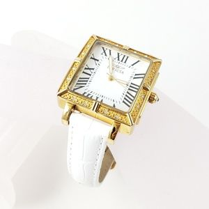 Invicta Watch White Patent Leather Band